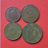 ФРГ, 4 разные монеты