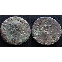 YS: Древний Рим, медная монета ок. I-II века н.э.
