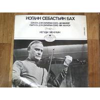 ИЕГУДИ МЕНУХИН -Соната для скрипки соло -До мажор и др. ИОГАНН СЕБАСТЬЯН БАХ Пр-во ВЕНГРИЯ