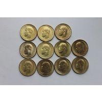Червонцы Николая 2. Набор из 11 монет