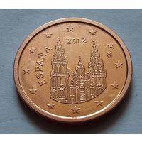 2 евроцента, Испания 2012 г., AU