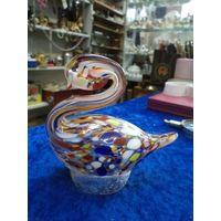 Лебедь, цветное стекло(1)