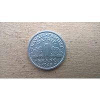 Франция 1 франк, 1943г. Режим Виши.