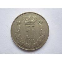 5 Франков 1986 (Люксембург)