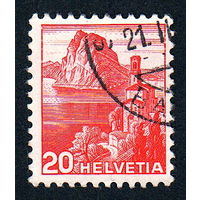 34: Швейцария, почтовая марка, 1936 год, номинал 20с, SG#375A