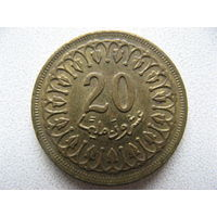 Тунис 20 миллимов 1960 г.