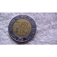 Мексика 2 песо 1999г. биметалл. распродажа