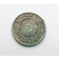 Япония 10 сен 1920 Серебро.