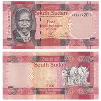 Южный Судан. 5 фунтов 2015. [UNC]