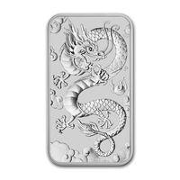 """Серебряная монета Австралии """"Китайский дракон"""", 1 oz"""