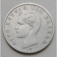 Бавария 2 марки 1901, серебро