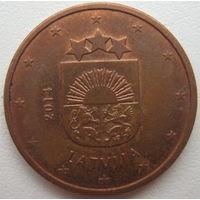 Латвия 5 евроцентов 2014 г.