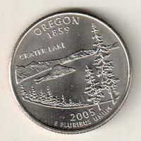 США квотер 2005 штат Орегон