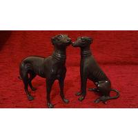 2 бронзовые статуэтки Голландия,выс.14см