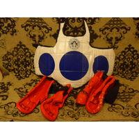 Защитная амуниция для тэквондо - жилет, 2 перчатки и 2 футы - размер 3(М) - пр-во Корея, США