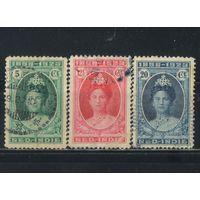 NL Колонии Нидерландская Индия (Индонезия) 1923 25 лет коронации Вильгельмины #149-151