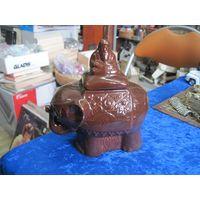 Чайница-слон керамическая, 15 см.