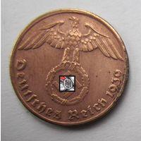 Третий рейх. 1 рейхспфенниг 1939 G.  2-126