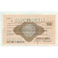Италия, Банковский чек 150 лир 1977 год.
