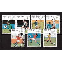 Камбоджа-1990,(Мих.1089-1096) гаш., Спорт,футбол