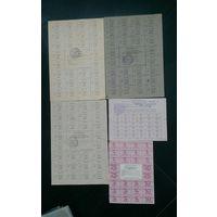 Талоны купоны на продукты,топливо РБ,Украина 90 гг