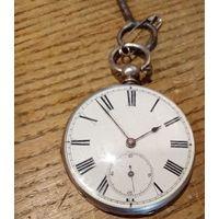 Часы карманные с ключом, рабочие, диаметр 3.5 см