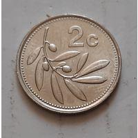 2 цента 1991 г. Мальта