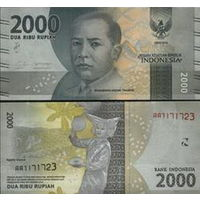 Индонезии 2000 рупий  2016 год  UNC