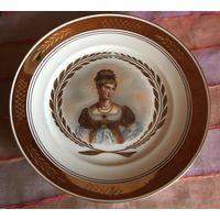 Тарелки Портретные парные Наполеон и Жозефина Royal Copenhagen 1897-1950 гг 27,5 см