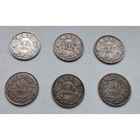 Швейцария 1/2 франка, 1920 7-6-7*12