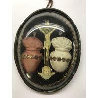 Старинная католическая икона.