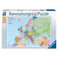 Паззл Политическая карта Европы,500 эл.,Равенсбургер