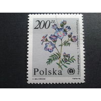 Польша 1990 цветы