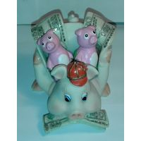 Статуэтка-сувенир, символ года- Денежная Свинка, керамика или полимер, с РУБЛЯ!!!
