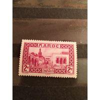 1933 Французская колония Марокко монумент архитектура чистая клей след от наклейки (4-9)