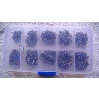 Крючки рыболовные 500 шт. размер: 3-12. и бокс. распродажа