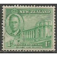 Новая Зеландия. Король Георг VI. Парламент в Велингтоне. 1946г. Mi#283.
