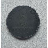 "Германия 5 пфеннигов, 1917 ""A"" - Берлин  5-1-21"