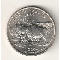 США квотер 2006 штат Северная Дакота