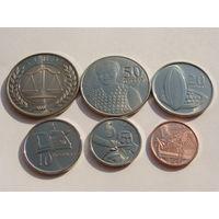Гана. набор из 6 монет 2007 год (1+5+10+20+50 pesewas + 1 седи) Из роллов!!! UNC!!!