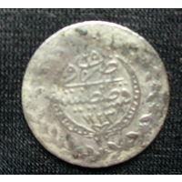 Арабская монетка 1777 год , счастливые цифры , серебро