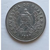Гватемала 25 сентаво, 1987 4-7-15