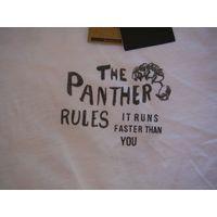 """Майка """"The Panther Rules"""" (Белая) Новая"""