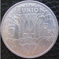 Реюньон 5 франков 1955 (а)