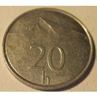 Словакия 20 гелеров 1996