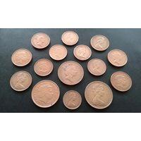15 монет с Королевой Елизаветой. Одним лотом.