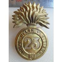 Великобритания.Кокарда 23го Уэльского фузилёрного полка.