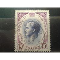 Монако 1955 князь Ренье 3  15фр
