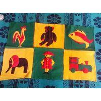 Коврик-одеяльце  детский чисто шерстяной развивающийся