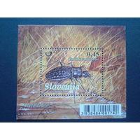 Словения 2009 жук  блок
